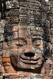 Face relief at the bayon temple Stock Photos