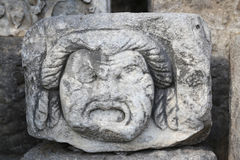 Face Relief in Bodrum Castle Royalty Free Stock Images