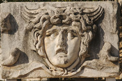 Face Relief from Ephesus royalty free stock photos