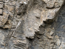 The face in the rocks - geologically interesting formation. Stock Photography