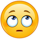 Face with rolling eyes emoticon Royalty Free Stock Photography