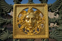 Face on the Royal Palace of Turin's gate Royalty Free Stock Photo