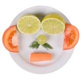 Face séria feita dos gêneros alimentícios Imagens de Stock