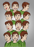 Faces expressions Royalty Free Stock Photo