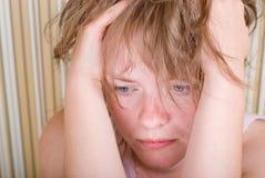 Face sad girl Royalty Free Stock Image