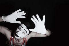 Face of sad mime Royalty Free Stock Photography