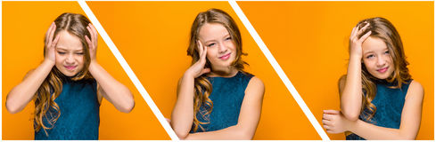 The face of sad teen girl Royalty Free Stock Photography