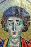 The face of a saint mosaic. royalty free stock photo