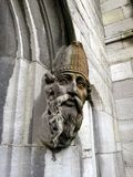 Face of Saint Patrick on stone stock photography