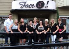 Face it salon 2013 team photo royalty free stock images