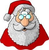 Face of Santa 1. This illustration that I created depicts the face of Santa Claus Stock Image