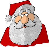 Face of Santa 2. This illustration that I created depicts the face of St Nick Stock Photography