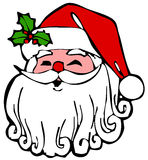 Face Santa Claus Stock Image