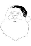 Face of Santa Claus Stock Photography