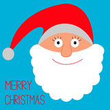 Face of Santa Claus. Merry Christmas card. Royalty Free Stock Images