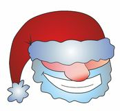 Face of Santa Claus. Person in a cap of Santa Claus Royalty Free Stock Photo