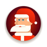 Face of Santa Claus vector illustration Royalty Free Stock Images