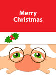Face of Santa greeting card Royalty Free Stock Images