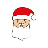 Face santa merry christmas image Stock Images