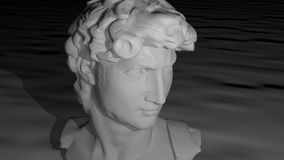 Face. A sculptured face in white marble Royalty Free Stock Photo