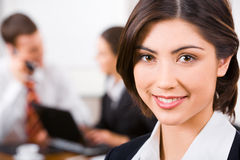Face of secretary Stock Image