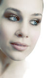 Face of sensual beautiful feminine fresh woman Stock Image