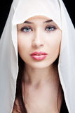 Face of sensual woman with beautiful eyes Royalty Free Stock Photo