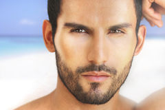 Face 'sexy' do homem Imagem de Stock Royalty Free