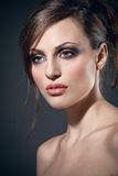 Face of a sexy woman with perfect skin Royalty Free Stock Image
