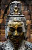 Face of Shiva sculpture royalty free stock photography