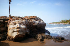 Face of Shiva. Vagator Beach in North Goa face of Shiva Stock Images