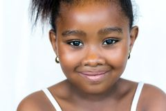 Face shot of cute little african girl. Royalty Free Stock Photo