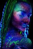 Ultraviolet make-up. stock image