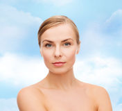 Face and shoulders of young woman Stock Image