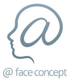 Face At Sign Concept Stock Photo