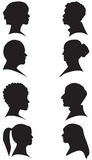 Face Silhouettes Stock Image