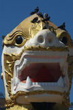 Face of Singha is white lion guardians . Royalty Free Stock Photography