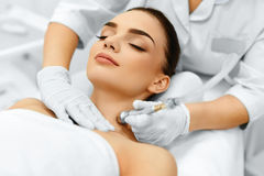 Face Skin Care. Diamond Microdermabrasion Peeling Treatment, Bea Stock Images