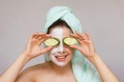 Face skin care. stock photos