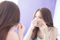 Face Skin Problem Stock Photography