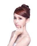 Face Skin Problem Stock Photography