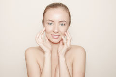 Face skin treatment concept woman portrait Royalty Free Stock Photography