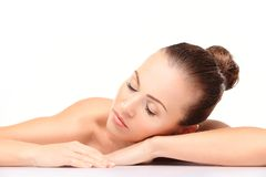 Face skincare beauty woman Royalty Free Stock Photography