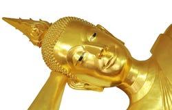 The face of Sleeping Buddha Stock Photography