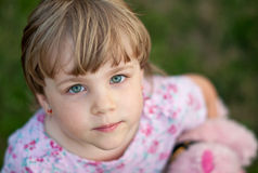 Face of small girl. A face of a small girl Stock Image