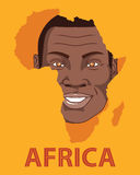 The Face smile of Africa vector, poster Stock Images