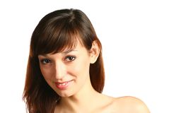Face of smiling brunette Royalty Free Stock Image