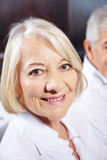 Face of a smiling senior woman Royalty Free Stock Photography
