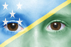 Face with solomon islands flag Royalty Free Stock Image