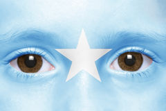 Face with somali flag Royalty Free Stock Photography